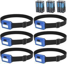 6 Packs Headlamp Flashlight