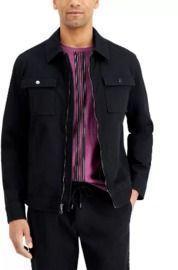 INC International Concepts Men's Regular-Fit Stretch Twill Jacket