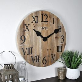 FirsTime & Co. 18 Rustic Barn Wall Clock
