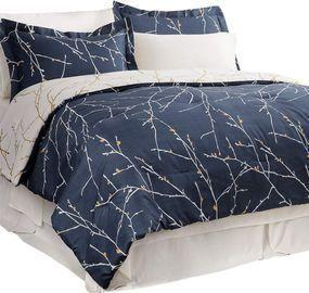 8 Pieces Navy Bedding Comforter Sets