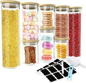 Glass Jars with Lids Pack of 8