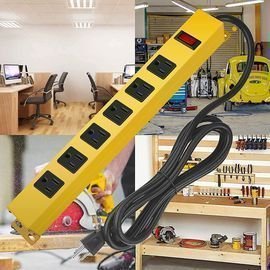 Metal 6-Outlet Power Strip Surge Protector