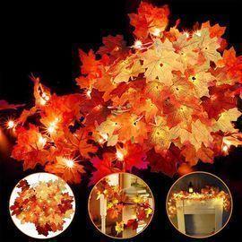 4 Pack Thanksgiving Fall Leaf Garland