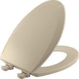 Bemis Elongated Wood Toilet Seat w/ Easy Clean Hinges
