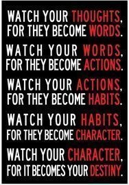 Watch Your Thoughts Motivational Classroom Poster