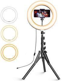 Selfie Ring Light with Extendable Tripod Stand & Phone Holder