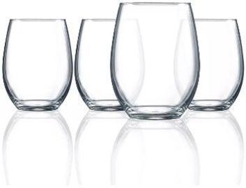 Luminarc Cachet 17oz Stemless Wine Glasses, Set of 4