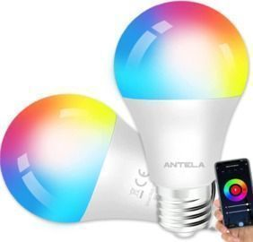 WiFi Smart Light Bulb - Compatible with Alexa/Google Home (2 Pack)