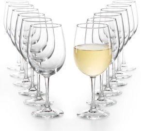 Martha Stewart Essentials 12pc White Wine Glasses Set