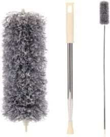 Stainless Steel Extra Long Microfiber Duster with Extension Pole