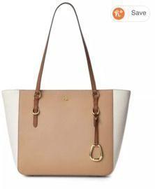 Lauren Ralph Lauren Saffiano Leather Medium Shopper