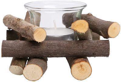 Handmade Wooden Tea Light Candle Holder