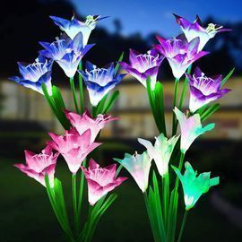 Solar Flower Lights with 16 Lily Flowers