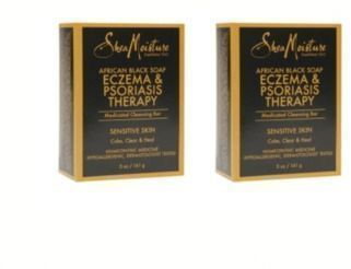 2X SheaMoisture Eczema & Psoriasis Therapy African Black Soap