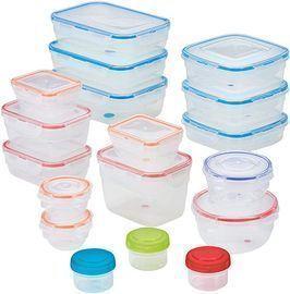 LOCK & LOCK 36pc Easy Essentials Color Mates Food Storage Set