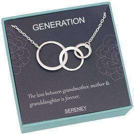 Generation Necklace - Interlocking infinity 3 circles