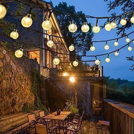 LED Outdoor Crystal Ball String Lights