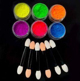 Luminous Neon Powder Nail