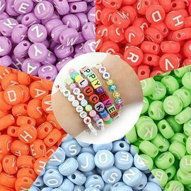 100Pcs DIY Bracelet Necklace Letter Beads