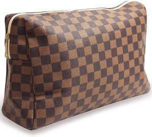 Checkered Travel Makeup Bag
