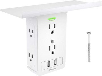 Surge Protector with Shelf