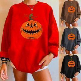 Halloween Pumpkin Long Sleeve Sweatshirts