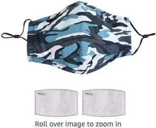 Camouflage Face Masks with 2pc Filter