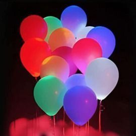 12 Inch Glow LED Balloons - 5pk