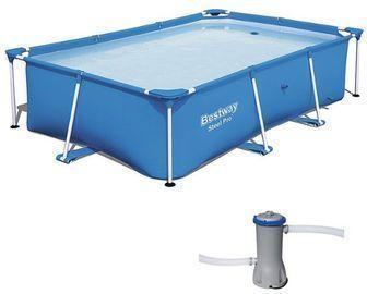 Bestway Rectangular Above Ground Pool Frame w/ Filter Pump
