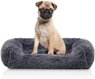 Rectangle Plush Bolster Pet Bed
