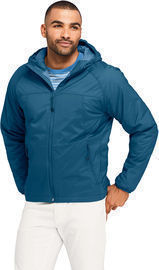 Men's Stretch Packable Primaloft Insulated Hooded Jacket