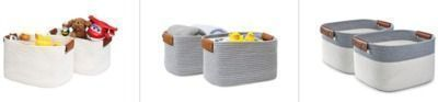 70% Off Select sets of Decorative Woven Baskets
