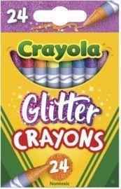 GLITTER - Crayola Glitter Crayons, 24 Count
