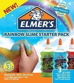 Elmers 3 Count Rainbow Slime Starter Kit