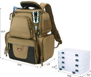 Piscifun Fishing Tackle Backpack with 4 Trays