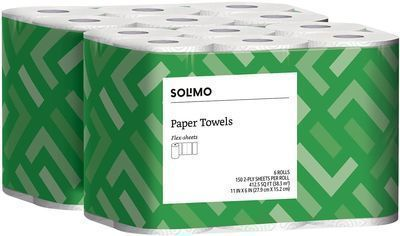 Solimo Basic Flex-Sheets Paper Towel 12-Pack