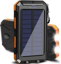 20000mAh Portable Outdoor Waterproof Solar Power Bank