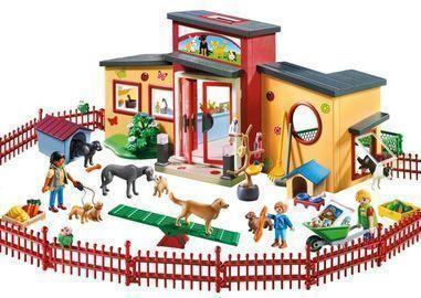 PLAYMOBIL Tiny Paws Pet Hotel Doll Playset