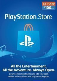 $100 PlayStation Network Card