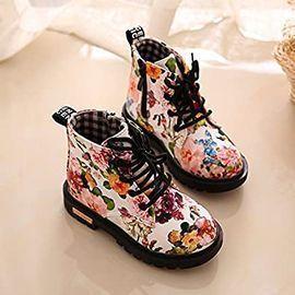 Yogaxxi Toddler Girls Waterproof Floral Martin Boots