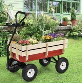 Garden Wagon with Wood Railing