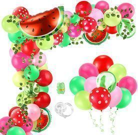Aboofx 107pc. Watermelon Party Balloons & Garland Arch Kit