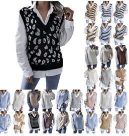 Sleeveless Pullover Sweaters