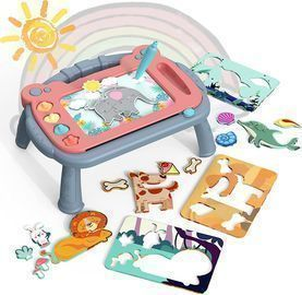Doodle Drawing Board Toy Puzzle 2-in-1 Set