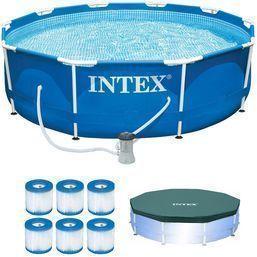 10' Intex Metal Frame Pool w/ Pump, Filters & Cover