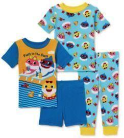 Baby Shark Baby Cotton Knit Pajamas