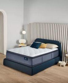 Serta Perfect Sleeper Cozy Escape 15 Plush Pillow Top Mattress Set, Queen