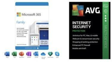 1YR Microsoft 365 Family (6-Users) + AVG Internet Security 2021 (5-Devices)