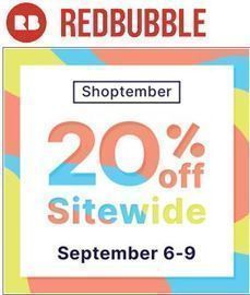 Redbubble - 20% Off Sitewide