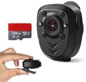 Body Camera with Built-in 128GB Memory Card